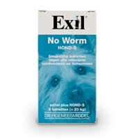 Exil No Worm Hond S 2 tabletten