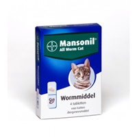 Mansonil All Worm Cat 4 tabletten