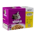 Whiskas Pouch Senior 7+ Vlees Selectie In Saus 1 x (12 x 100 gr)