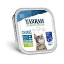 Yarrah Bio Kuipje Brokjes Kattenvoer Kip - Haring 100 gr