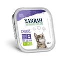 Yarrah Bio Kuipje Brokjes Kattenvoer Kip - Kalkoen 100 gr