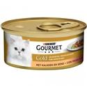 Gourmet Gold Fijne Hapjes Brokjes in saus Kalkoen en Eend 1 tray (24 blikken)