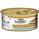Gourmet Gold met zeevis in een saus met spinazie 1 tray (24 blikken)